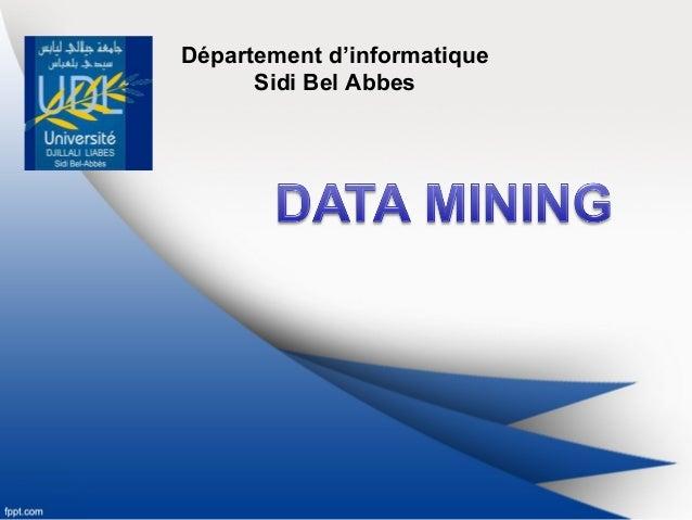 Département d'informatique Sidi Bel Abbes