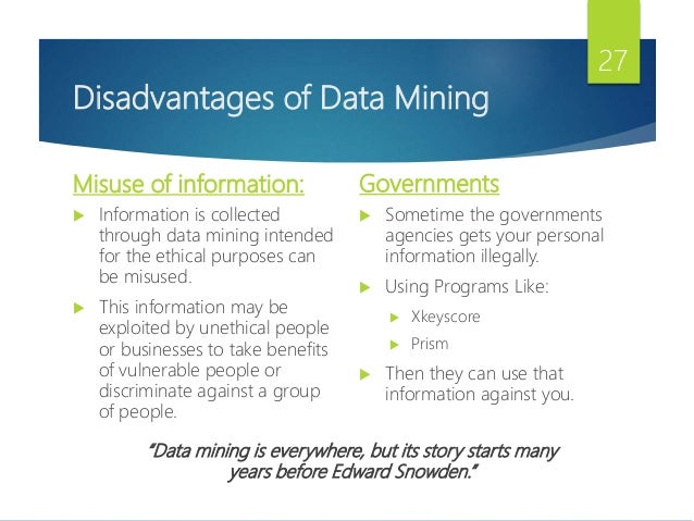 limitations of data mining Natural language processing and text mining: discover the main differences when it comes to analyzing unstructured data sets, a range of methodologies /are used.