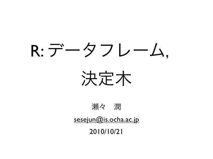 Datamining r 2nd