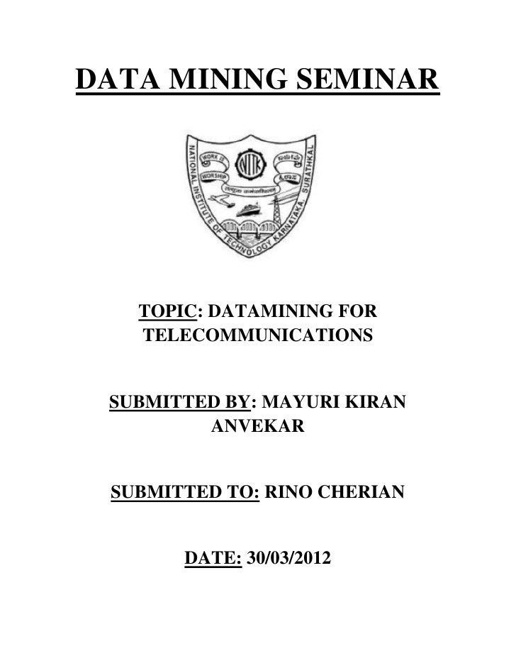Data mining seminar report