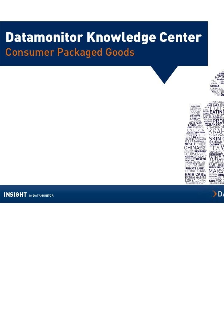 Datamonitor Knowledge CenterConsumer Packaged GoodsINSIGHT   by DATAMONITOR