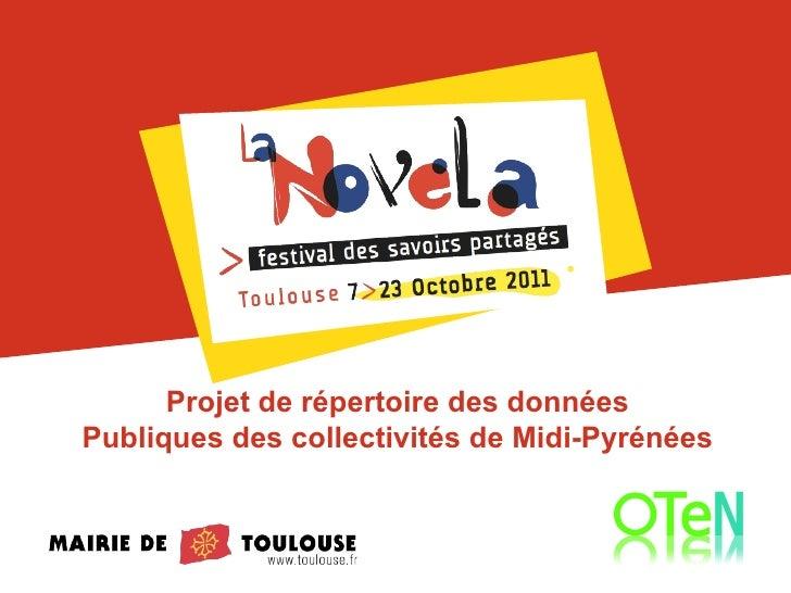 Projet de répertoire des données Publiques des collectivités de Midi-Pyrénées