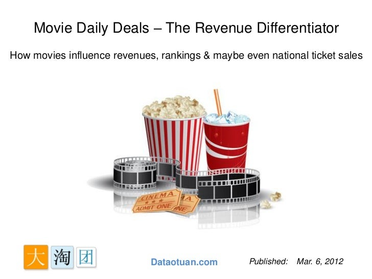 Movie Daily Deals – The Revenue DifferentiatorHow movies influence revenues, rankings & maybe even national ticket sales  ...