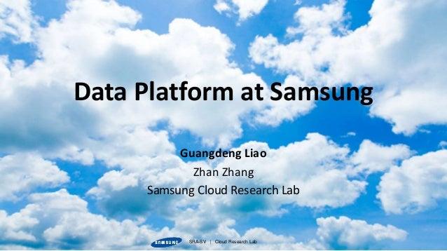 SRA-SV   Cloud Research LabSRA-SV   Cloud Research Lab Guangdeng Liao Zhan Zhang Samsung Cloud Research Lab Data Platform ...