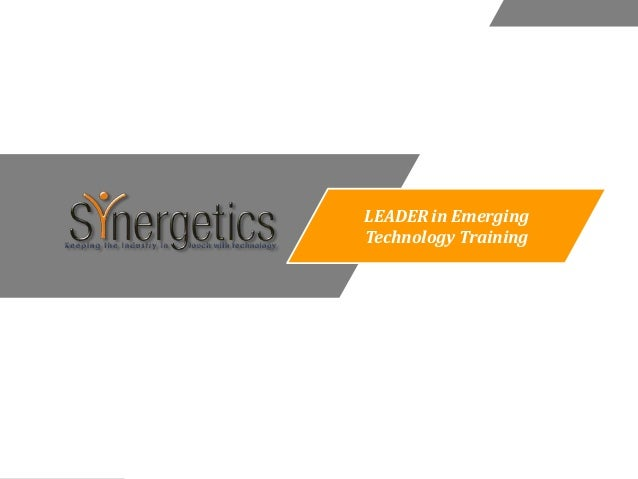 LEADER in EmergingTechnology Training