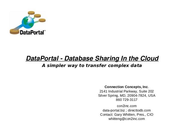 DataPortal Presentation