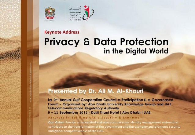 Privacy & Data Protection in the Digital World