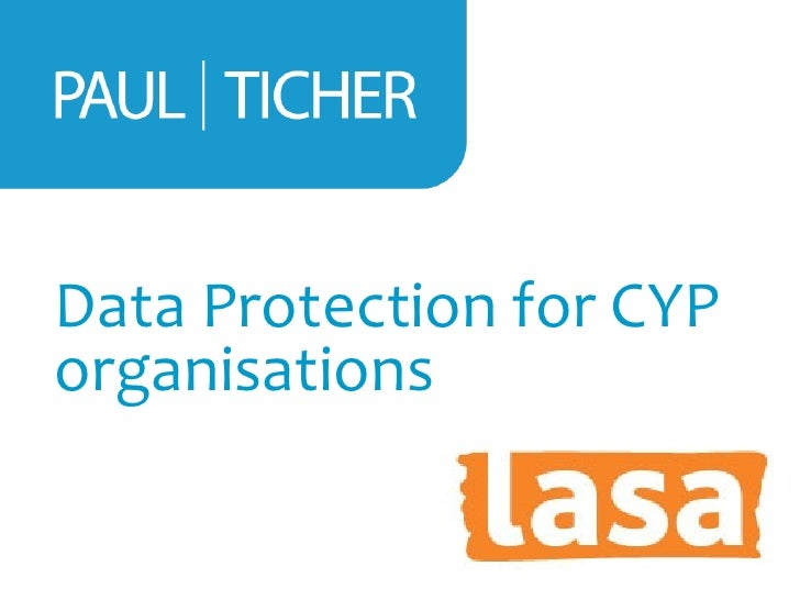 Data Protection for CYPorganisations
