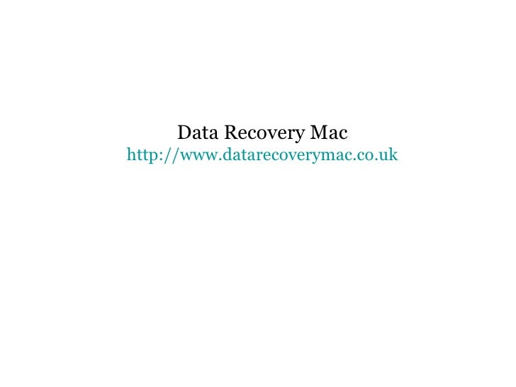 Data Recovery Mac http://www.datarecoverymac.co.uk