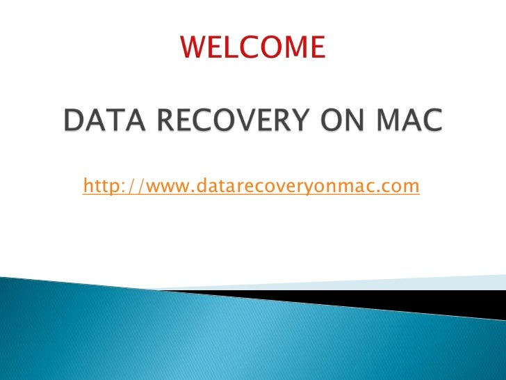 how to recover data on mac