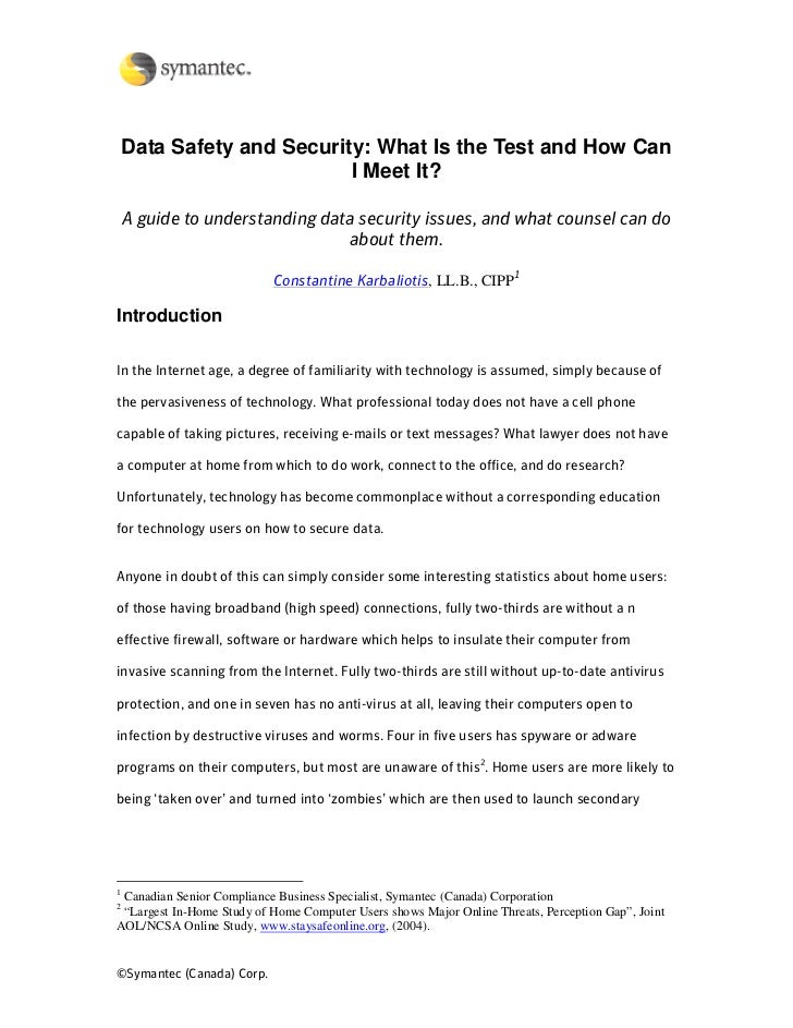 Data Safety and Security: What Is the Test and How Can                            I Meet It?      A guide to understanding...