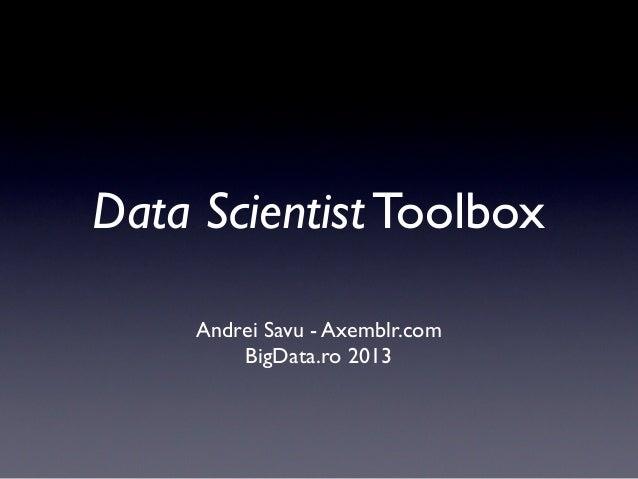 Data Scientist Toolbox