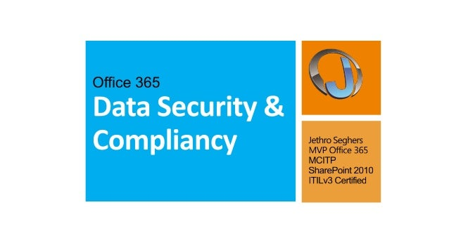 Data security and compliancy in Office 365