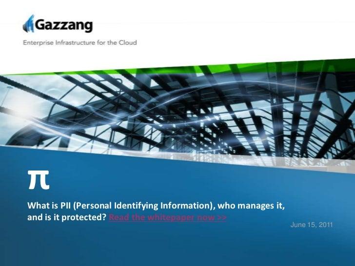 Data Security  PII Gazzaang