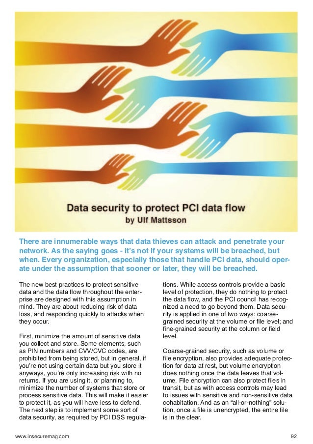 Data security to protect pci data flow   ulf mattsson - insecure-mag-40