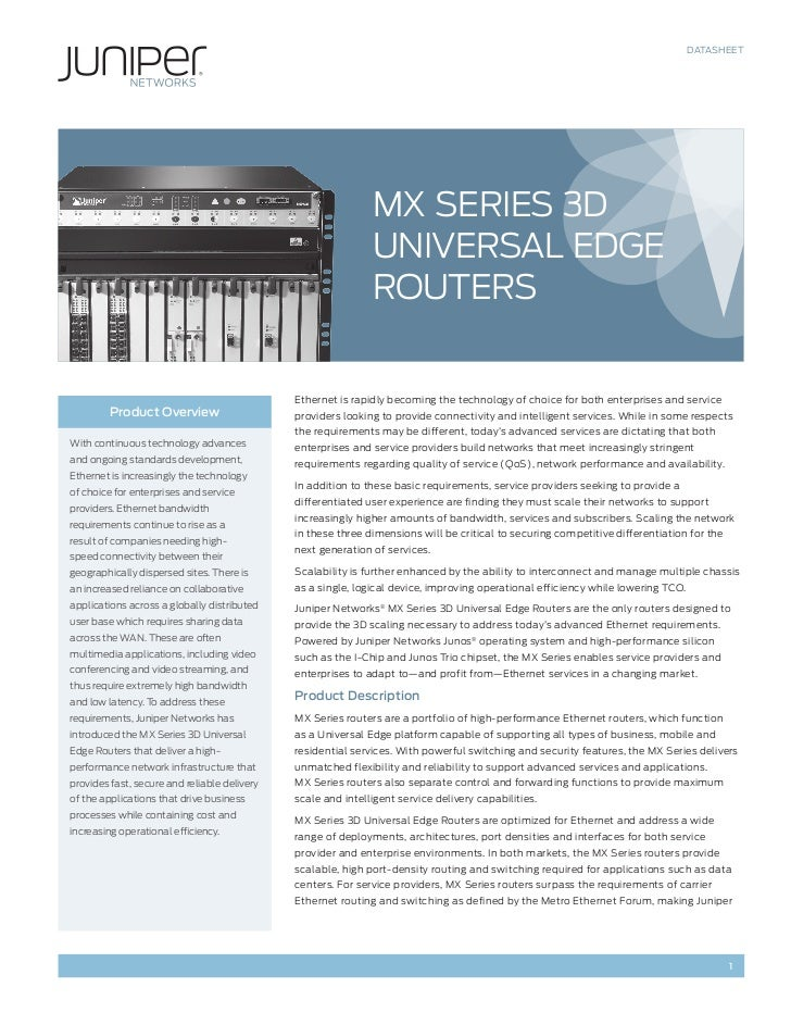 Datasheet mx series 3 d universal edge routers