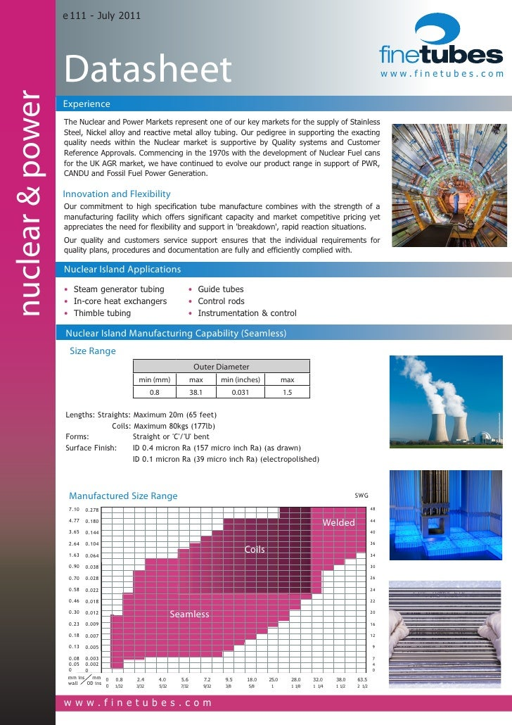 Datasheet - Nuclear and Power