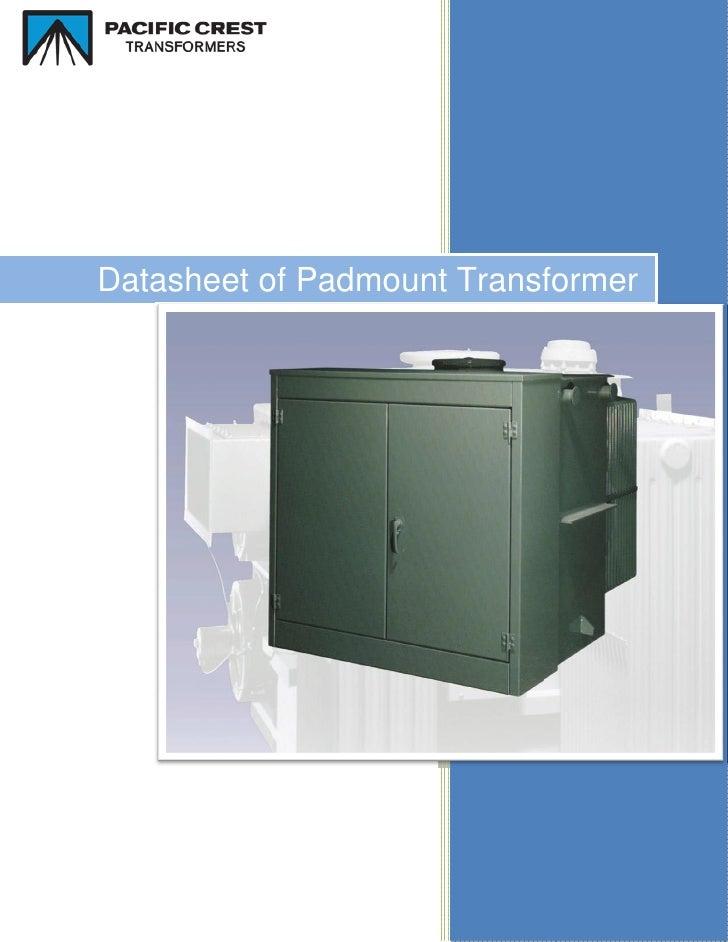 Datasheet of Padmount Transformer