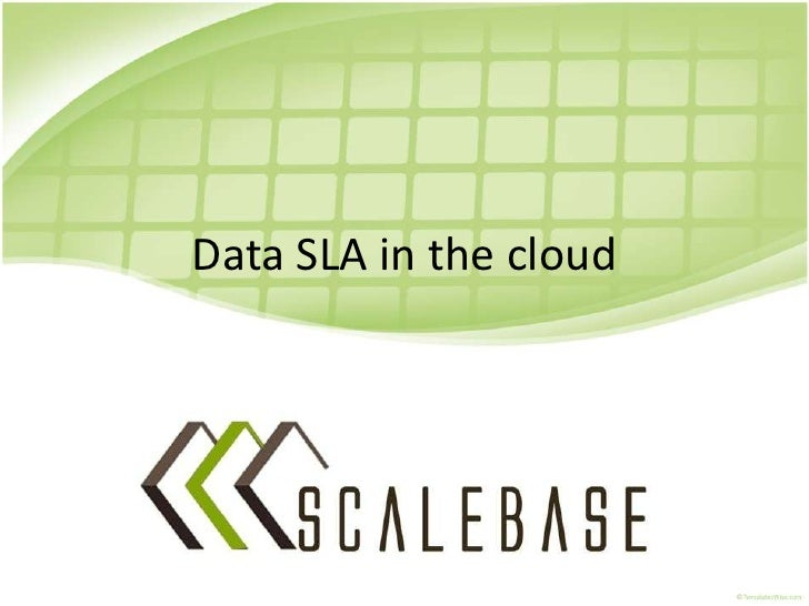 Data SLA in the public cloud