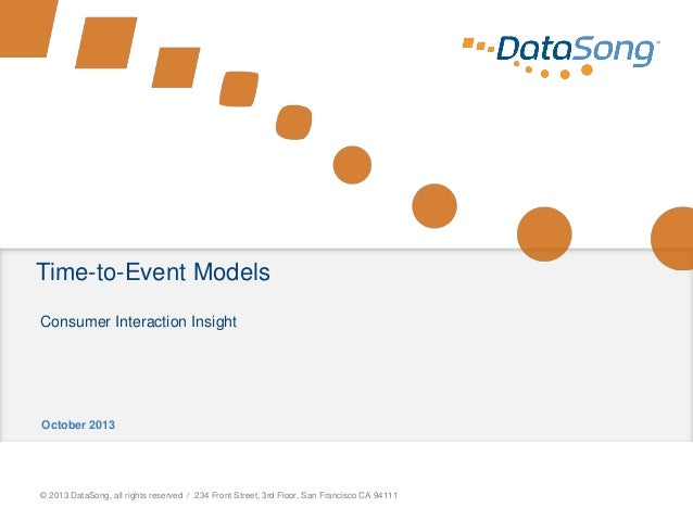 Time-to-Event Models, presented by DataSong and Revolution Analytics