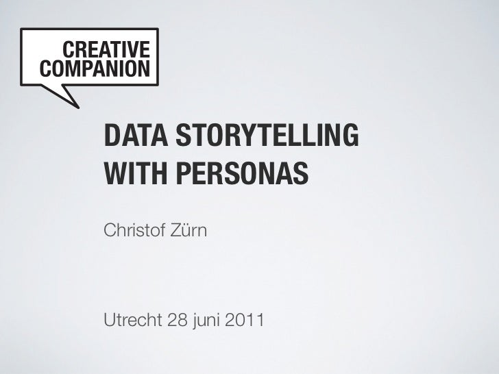 Data storytelling with personas, Utrecht