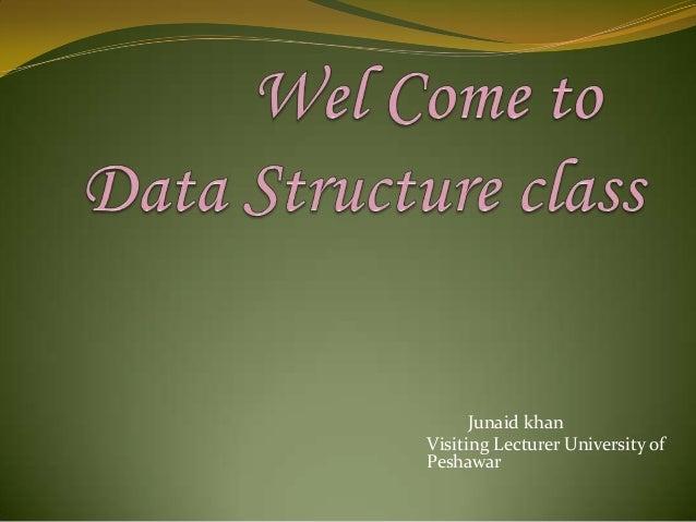Junaid khan Visiting Lecturer University of Peshawar