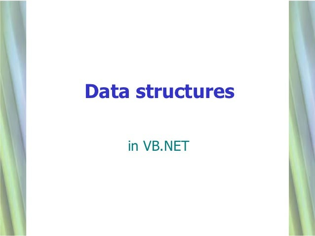 Data structures    in VB.NET                  1