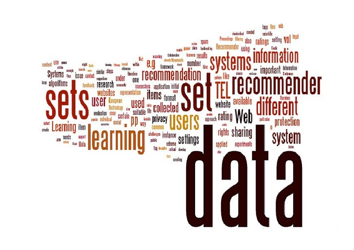 Issues and Considerations regarding Sharable Data Sets for Recommender Systems in TEL