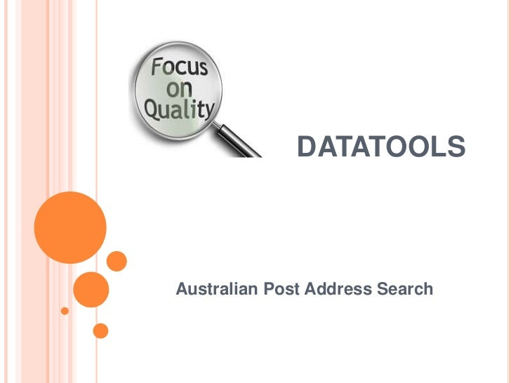 DATATOOLSAustralian Post Address Search