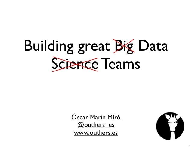 Looking for The Magic: Building Great Data Teams