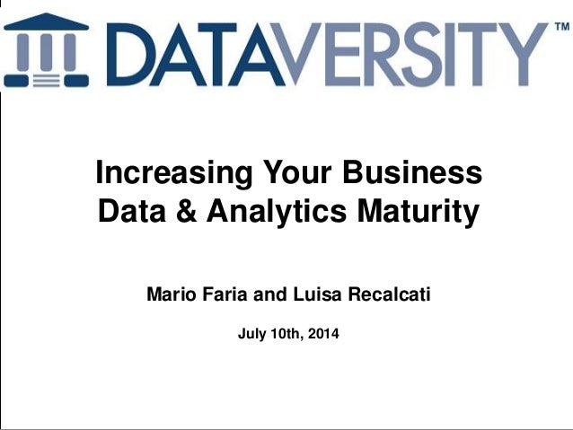Increasing Your Business Data and Analytics Maturity