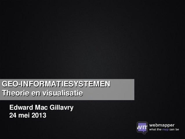 Geo-Informatiesystemen: theorie en visualisatie