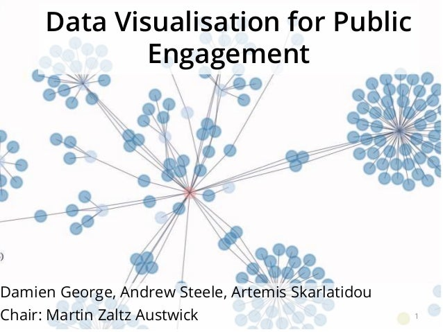 Data Visualisation for Public Engagement Damien George, Andrew Steele, Artemis Skarlatidou Chair: Martin Zaltz Austwick 1