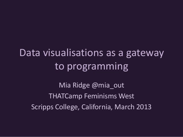 Data visualisations as a gateway to programming
