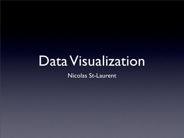Data Visualization     Nicolas St-Laurent