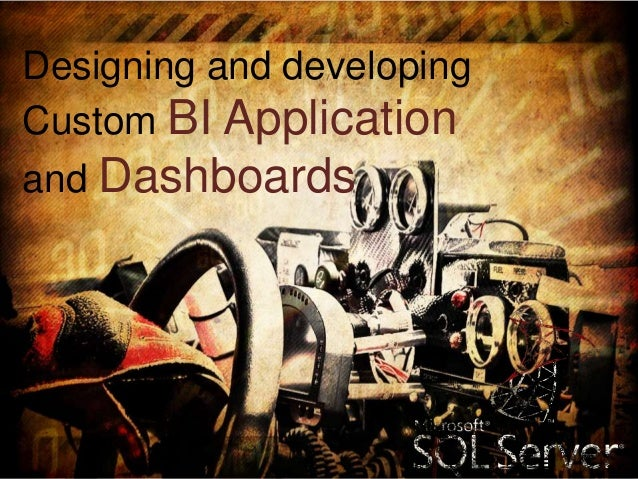 Designing and developing Custom BI Application and Dashboards