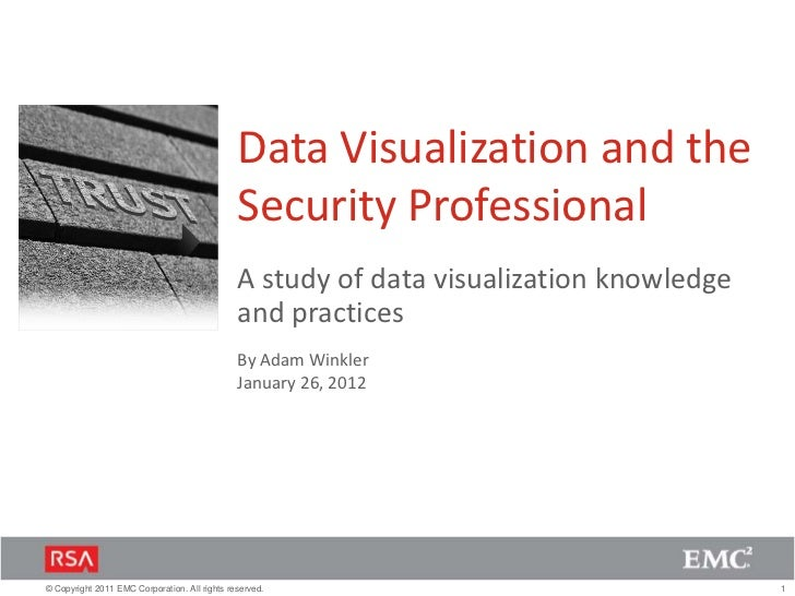Data Visualization and the                                               Security Professional                            ...