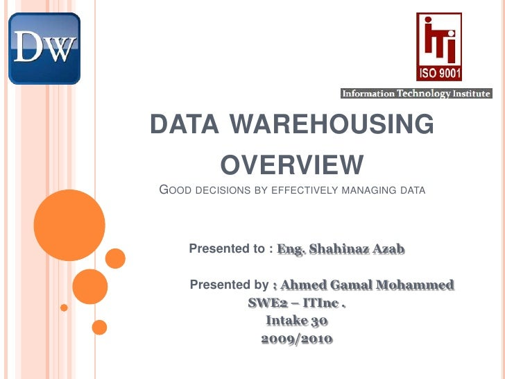 Data Warehousing Overview