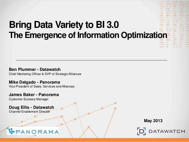 Business Intelligence Meets Big Data Variety