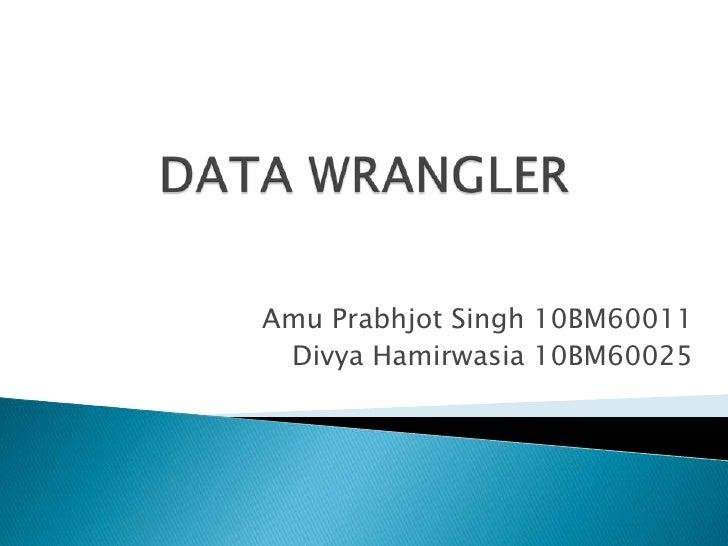 Amu Prabhjot Singh 10BM60011 Divya Hamirwasia 10BM60025