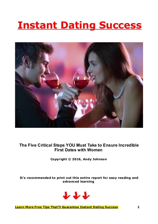 instant dating success How to avoid the most common mistakes men make with online dating if you're not having much success with online dating and you poor writing is an instant turn.