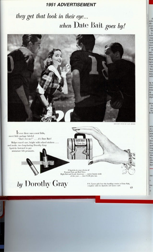 Date Bait-1951 Lipstick Ad