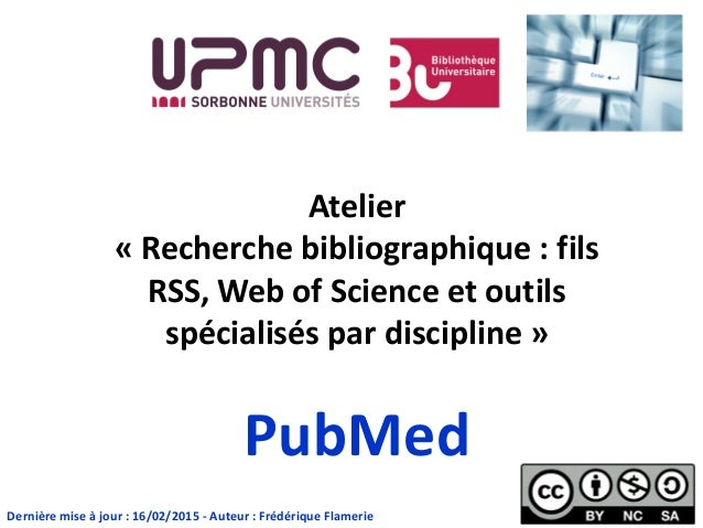Doctorat sciences - Outil de recherche : PubMed
