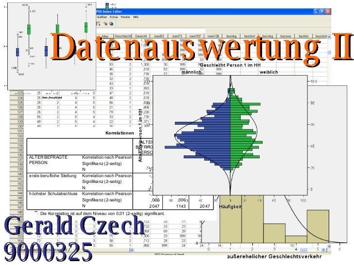 Datenauswertung II Gerald Czech 9000325
