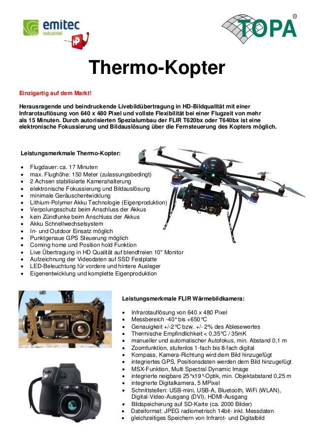 Thermo-Kopter  Einzigartig auf dem Markt!  Herausragende und beindruckende Livebildübertragung in HD-Bildqualität mit eine...