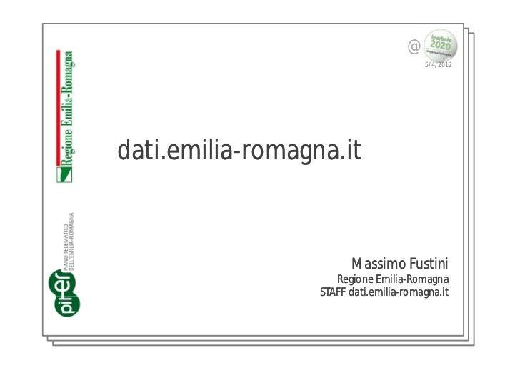 @                                        5/4/2012dati.emilia-romagna.it ati.emilia-                        Massimo Fustini...