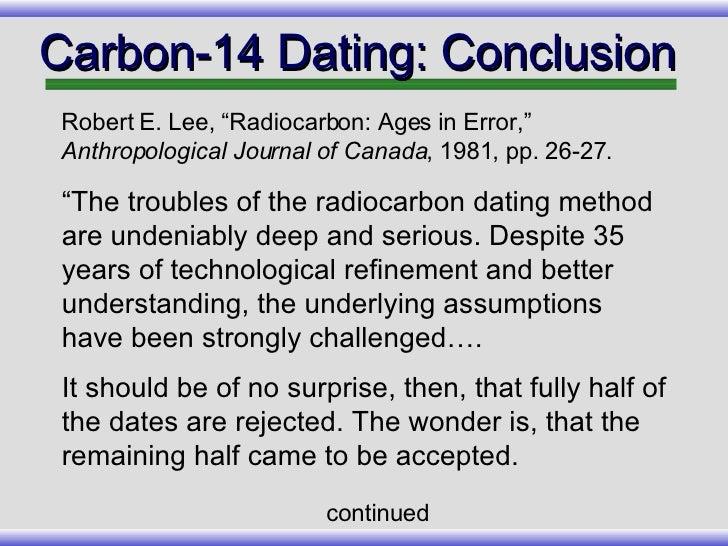 carbon 14 dating margin of error definition