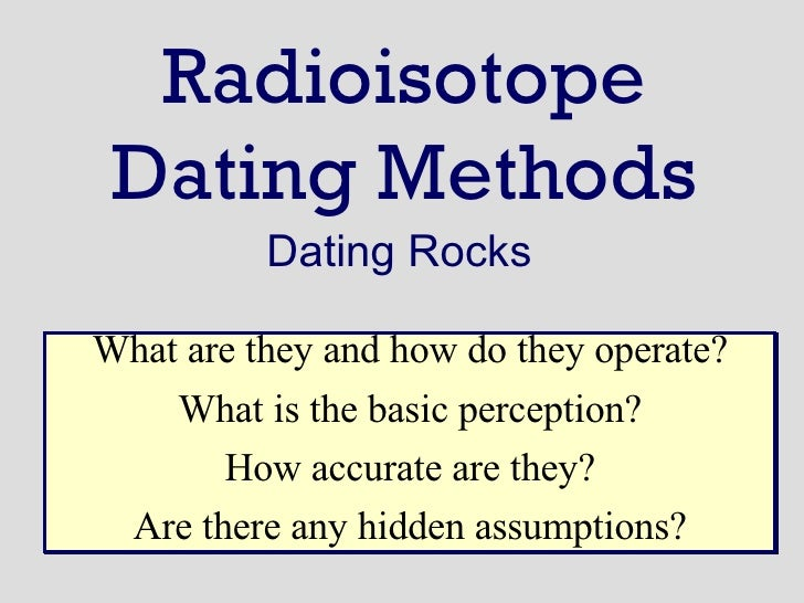 Anthropological dating methods not accurate 5