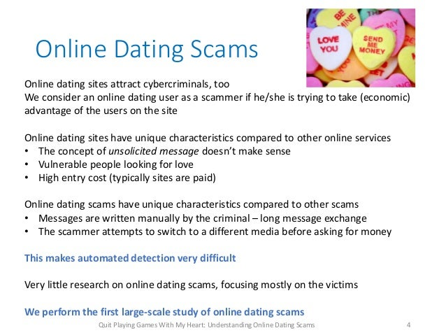 Money scams online dating