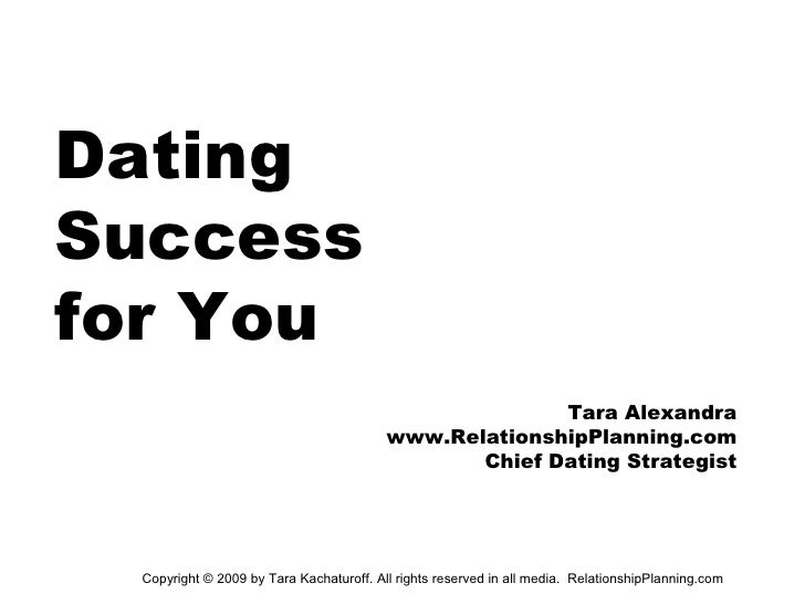 Dating Success for You                                                        Tara Alexandra                              ...